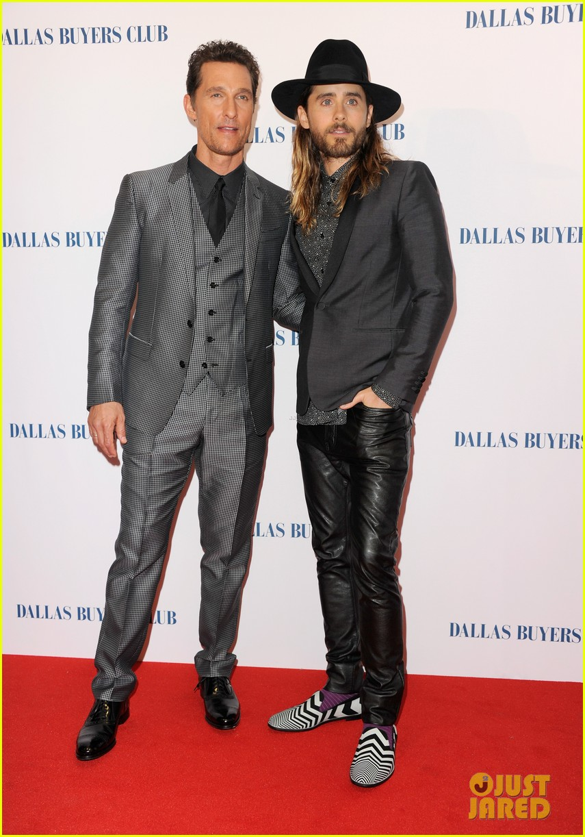 matthew mcconaughey jared leto reunite for dallas buyers club uk premiere 073043617