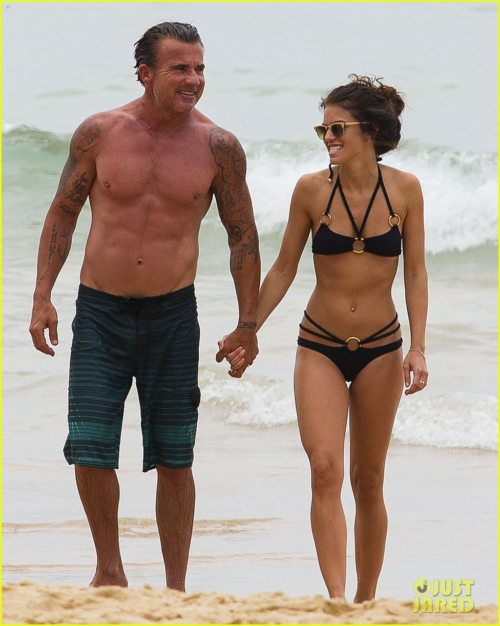 annalynne mccord bikini beach babe with shirtless dominic purcell 013021345