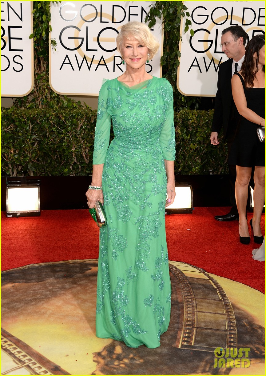 helen mirren golden globes 2014 red carpet 033029525