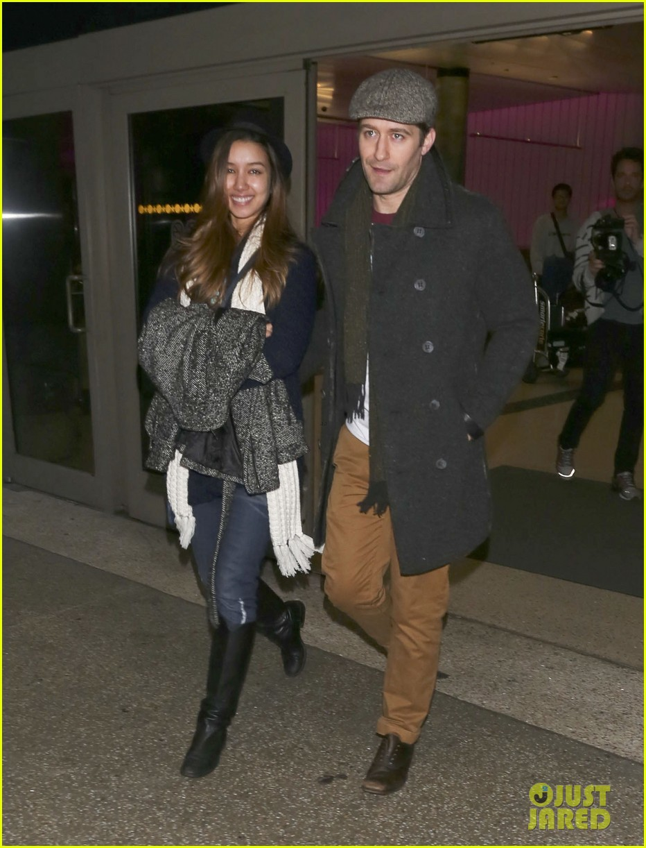 matthew morrison renee puente lax landing with jc chasez 15