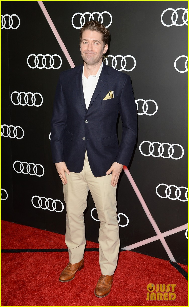 matthew morrison chord overstreet pre golden globes party 233026926