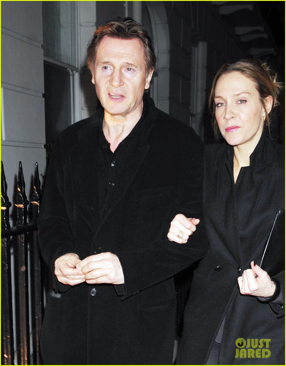 liam neeson girlfriend freya st johnston date night in london 04