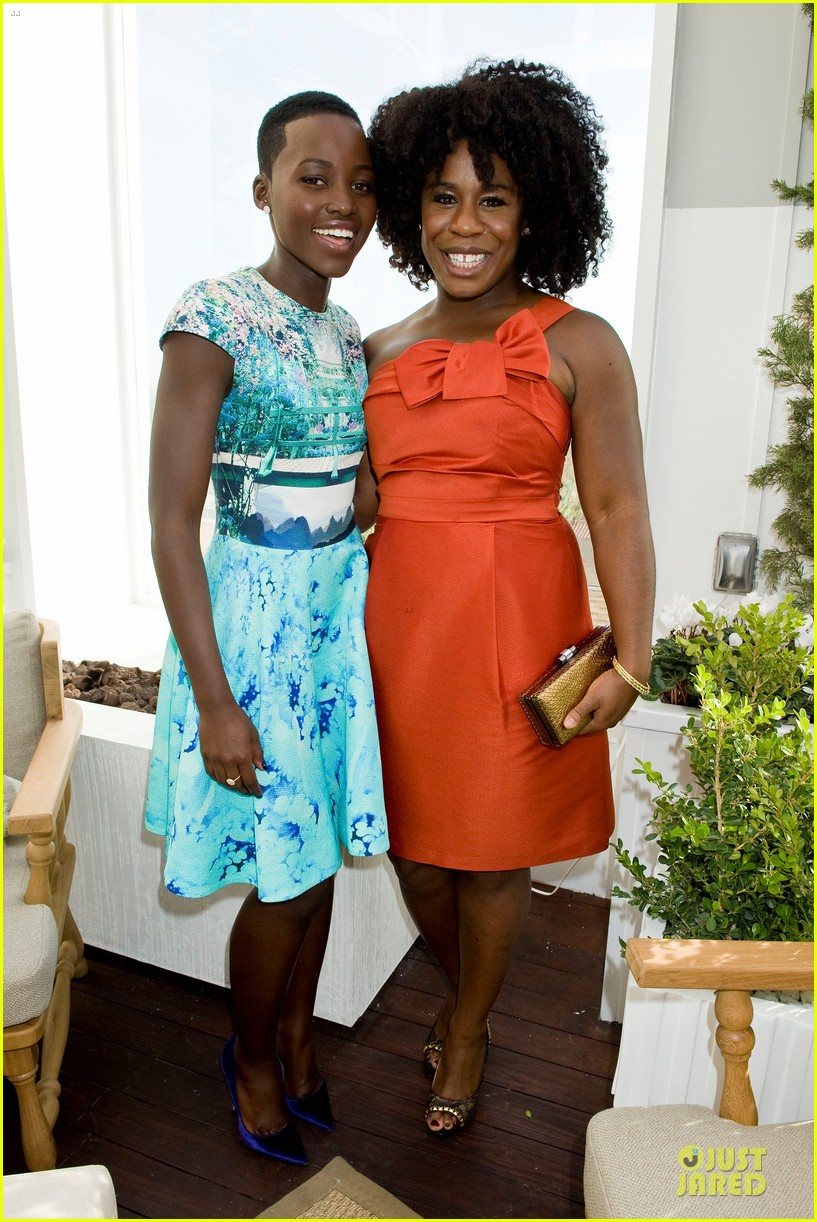 lupita nyongo dujour cover party with michelle dockery 04