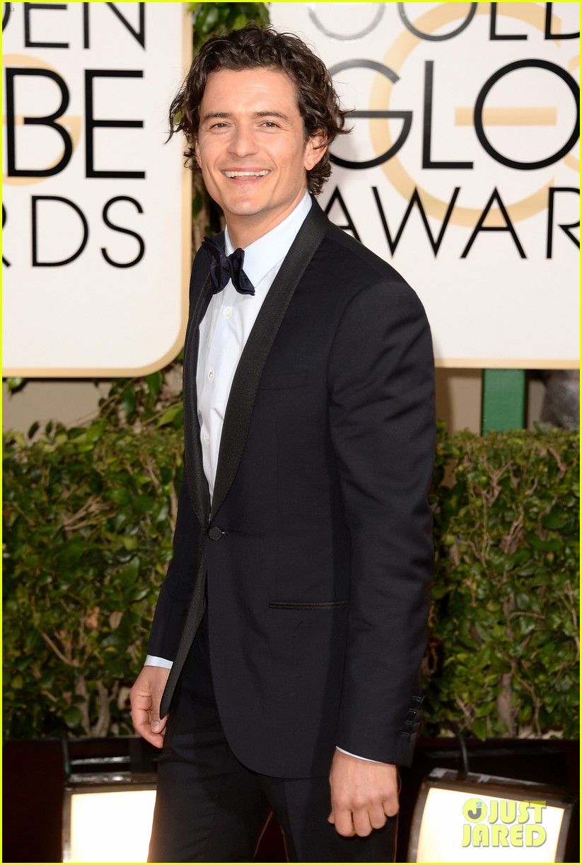 orlando bloom golden globes 2014 red carpet 023029399