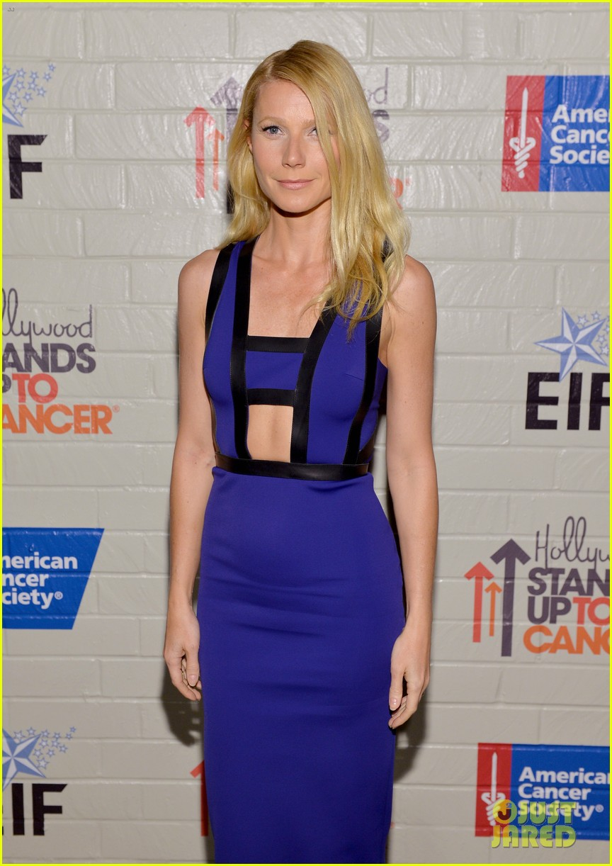gwyneth paltrow rocks cut out dress to stand up to cancer 07