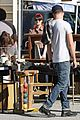 aaron paul wife lauren kiss cuddle at the flea market 12