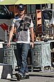 aaron paul wife lauren kiss cuddle at the flea market 16