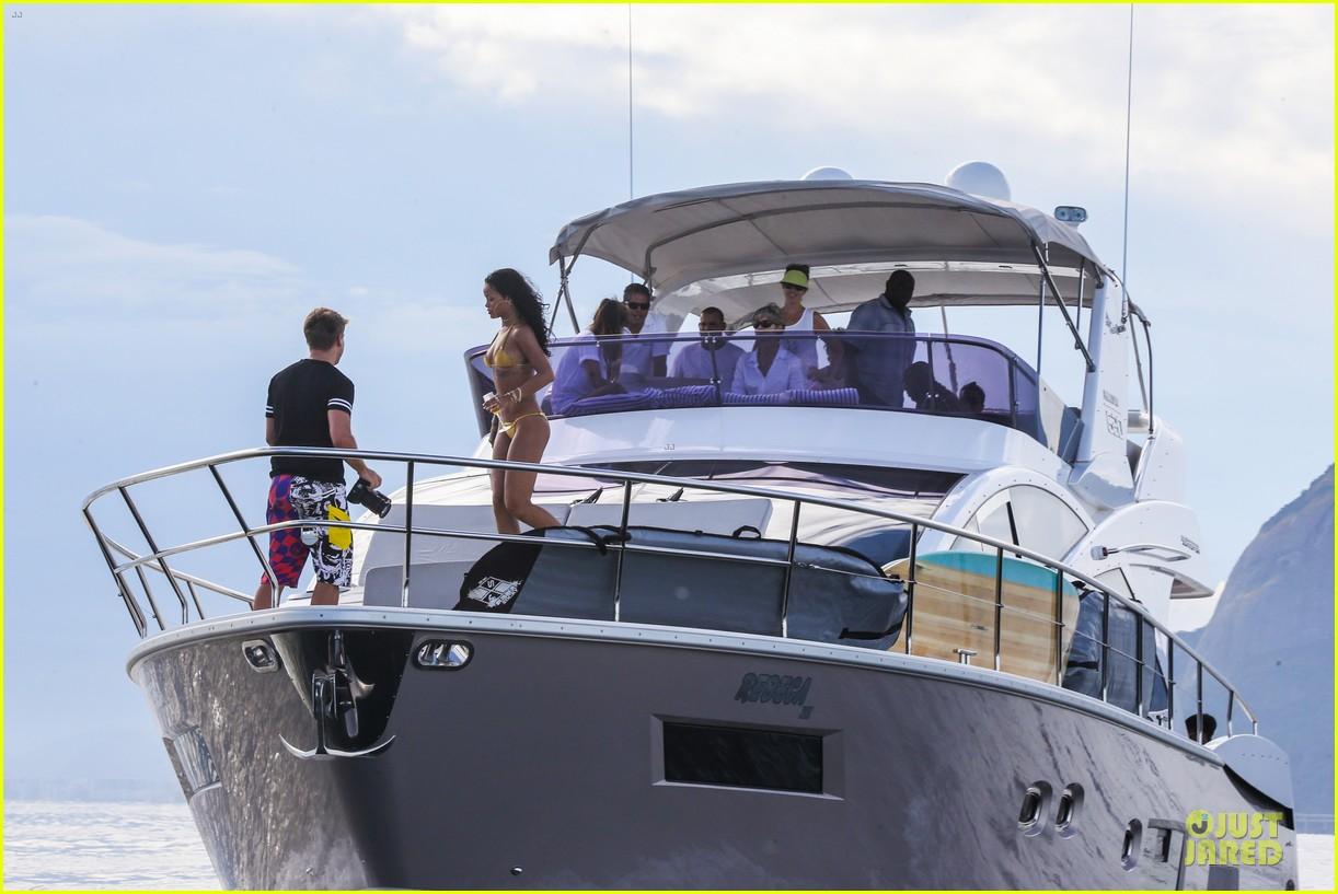 rihanna gold bikini beach babe in brazil 263036024