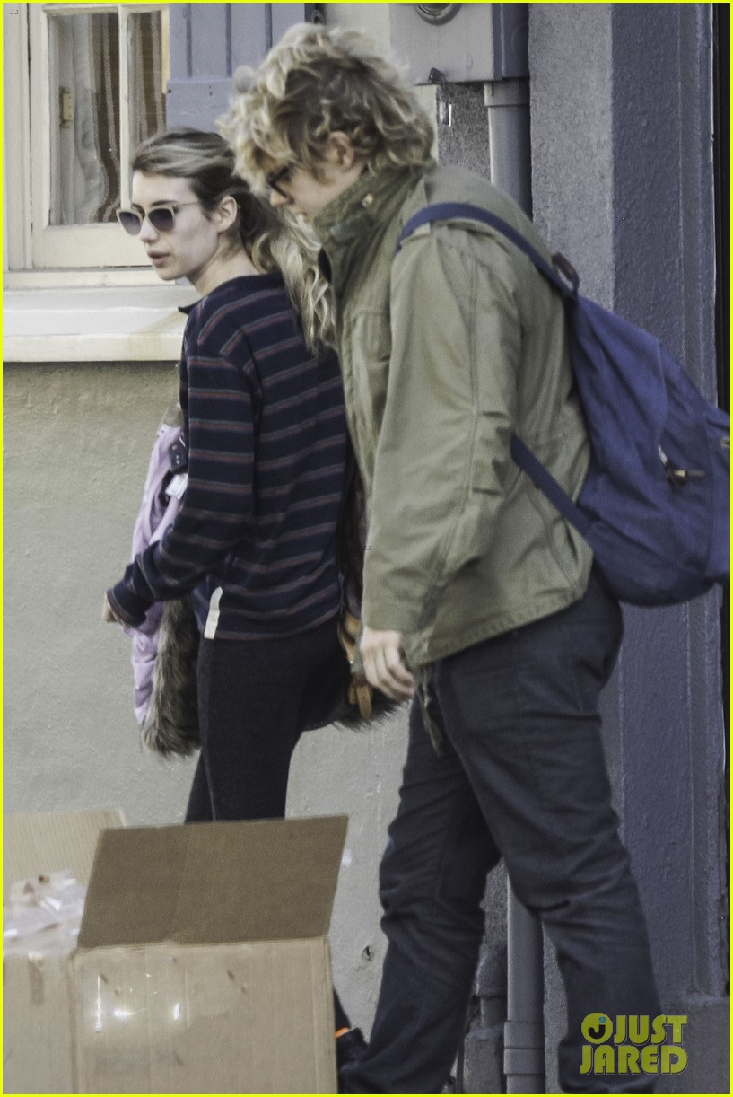 emma roberts evan peters step out together after engagement 033026475