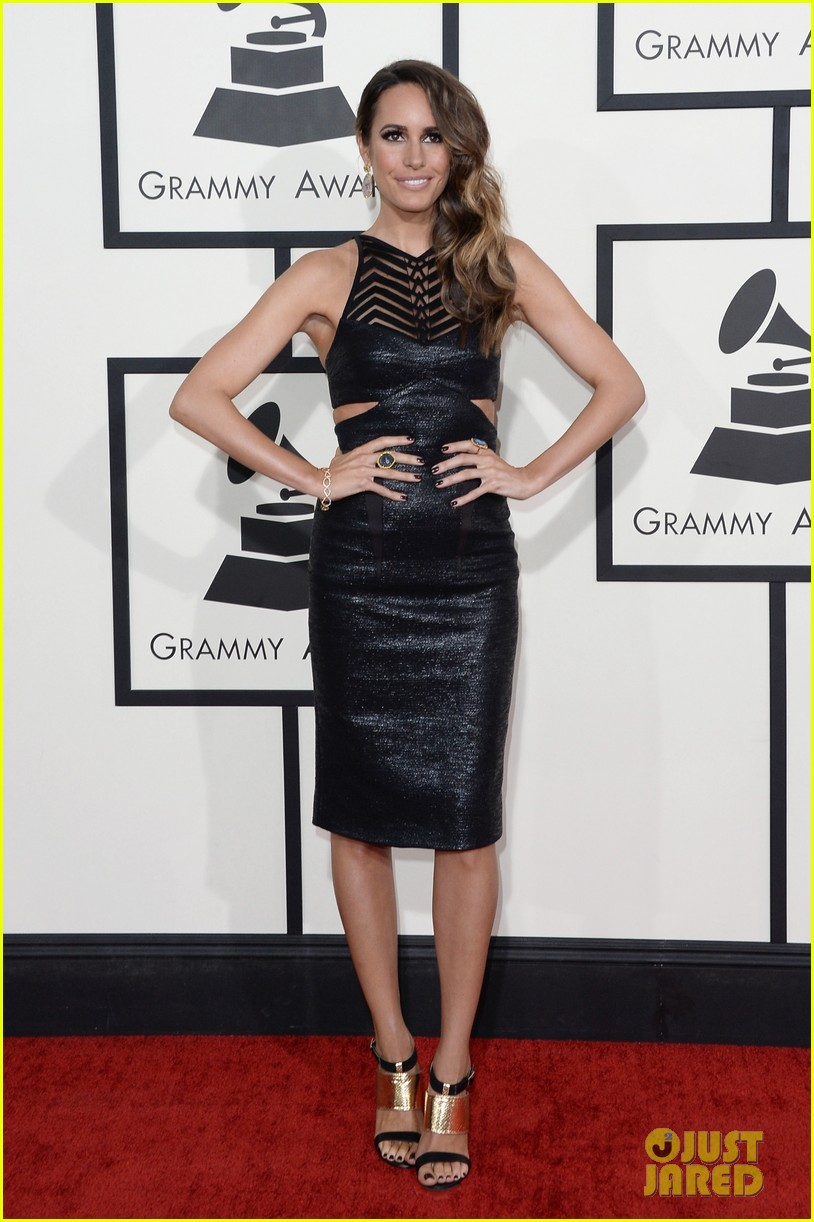 louise roe guiliana rancic grammys 2014 red carpet 033040916
