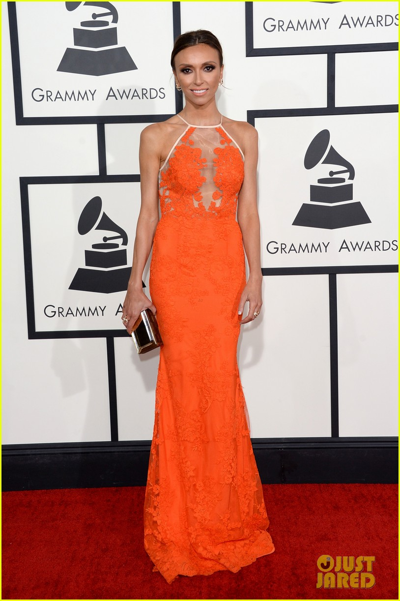 louise roe guiliana rancic grammys 2014 red carpet 053040918