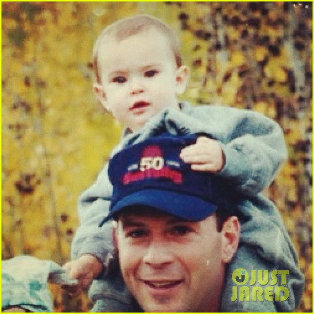 rumer willis shares tbt picture with bruce willis 03