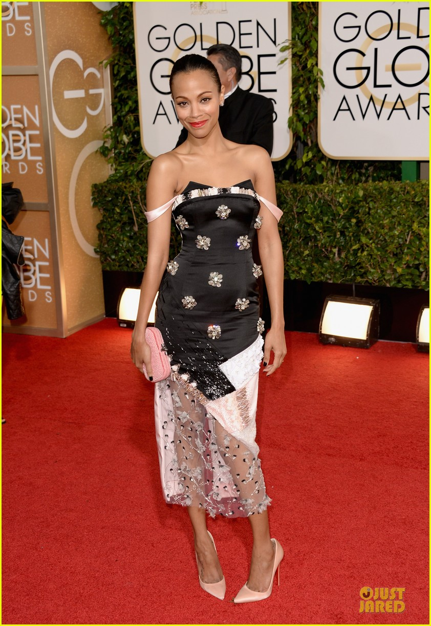 zoe saldana globen globes 2014 red carpet 01