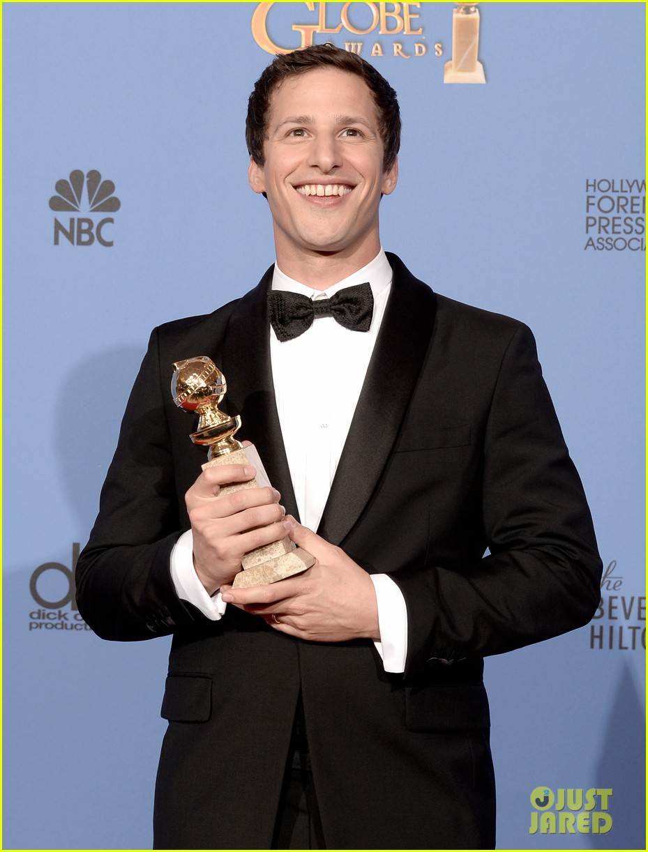 andy samberg wins best actor at golden globes 2014 01