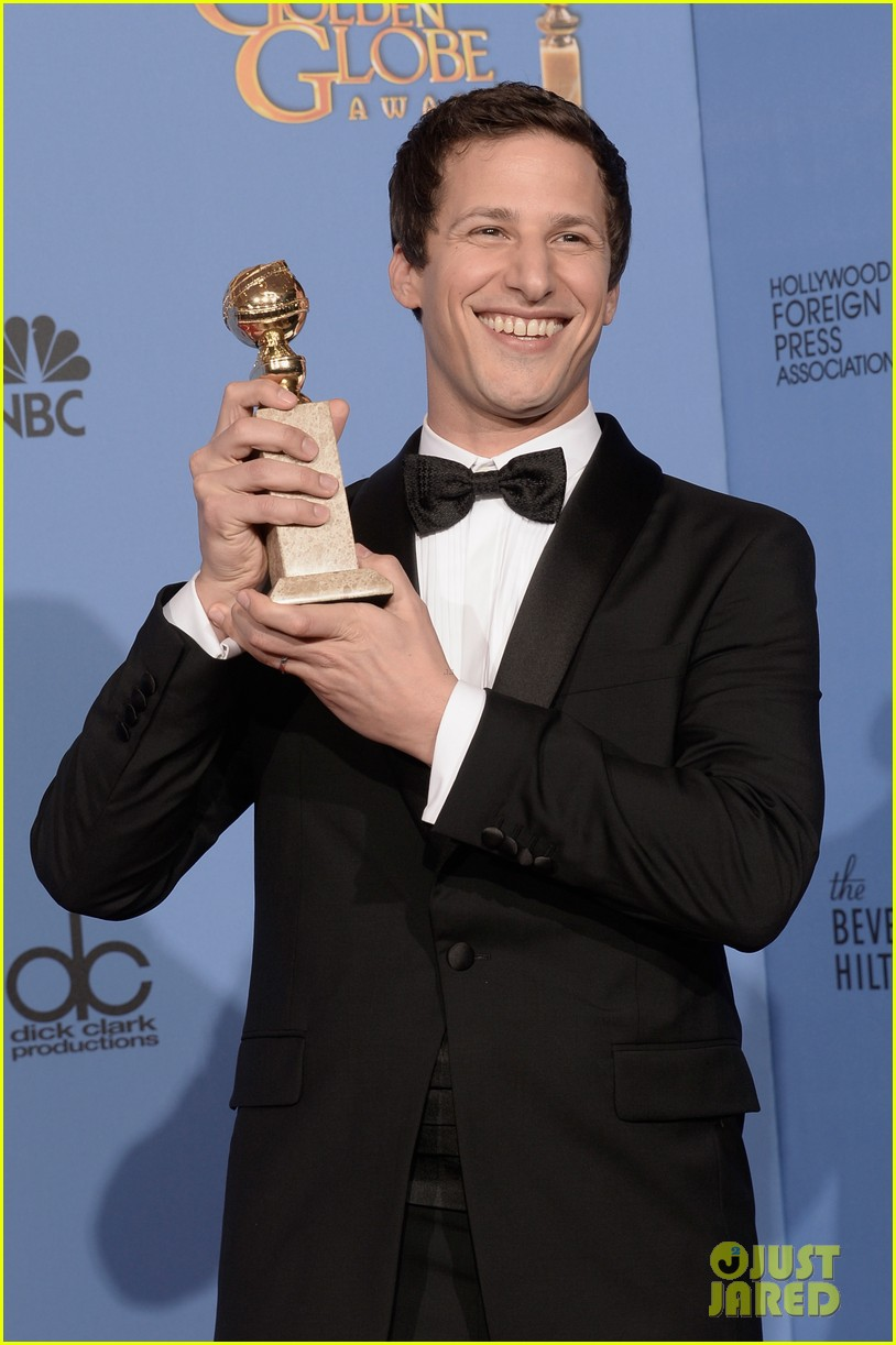 andy samberg wins best actor at golden globes 2014 053029640