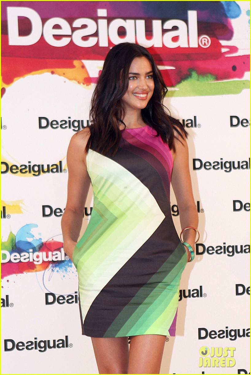 irina shayk presents new desigual campaign in spain 063042232