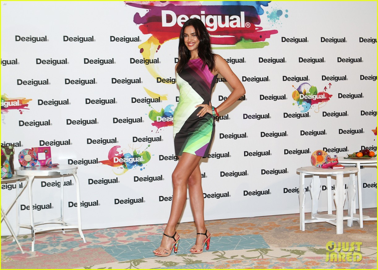irina shayk presents new desigual campaign in spain 09