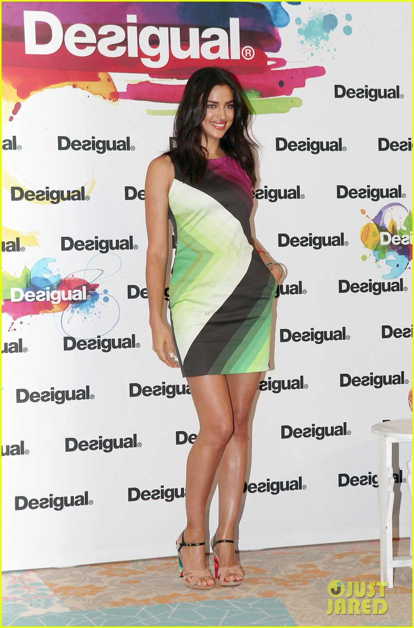 irina shayk presents new desigual campaign in spain 223042248