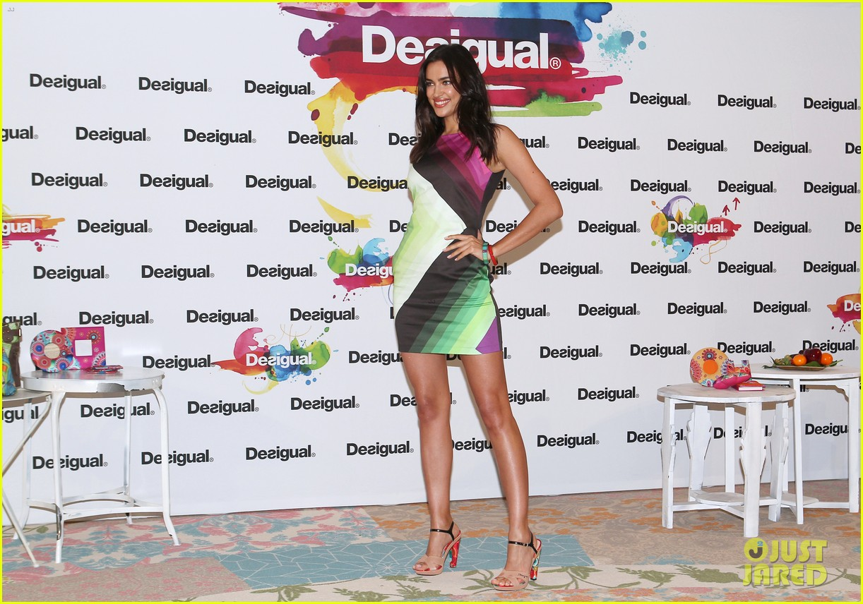 irina shayk presents new desigual campaign in spain 233042249