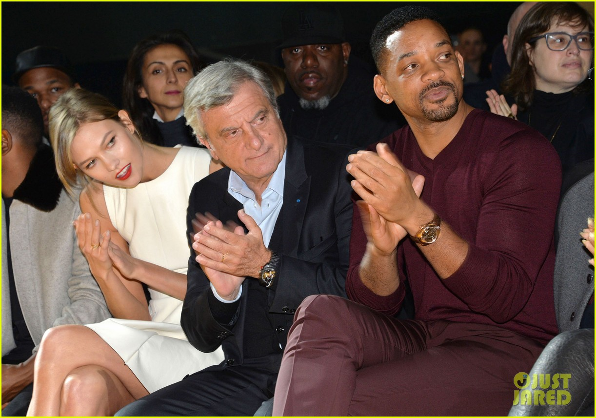 will smith karlie kloss dior homme fashion show 163035275