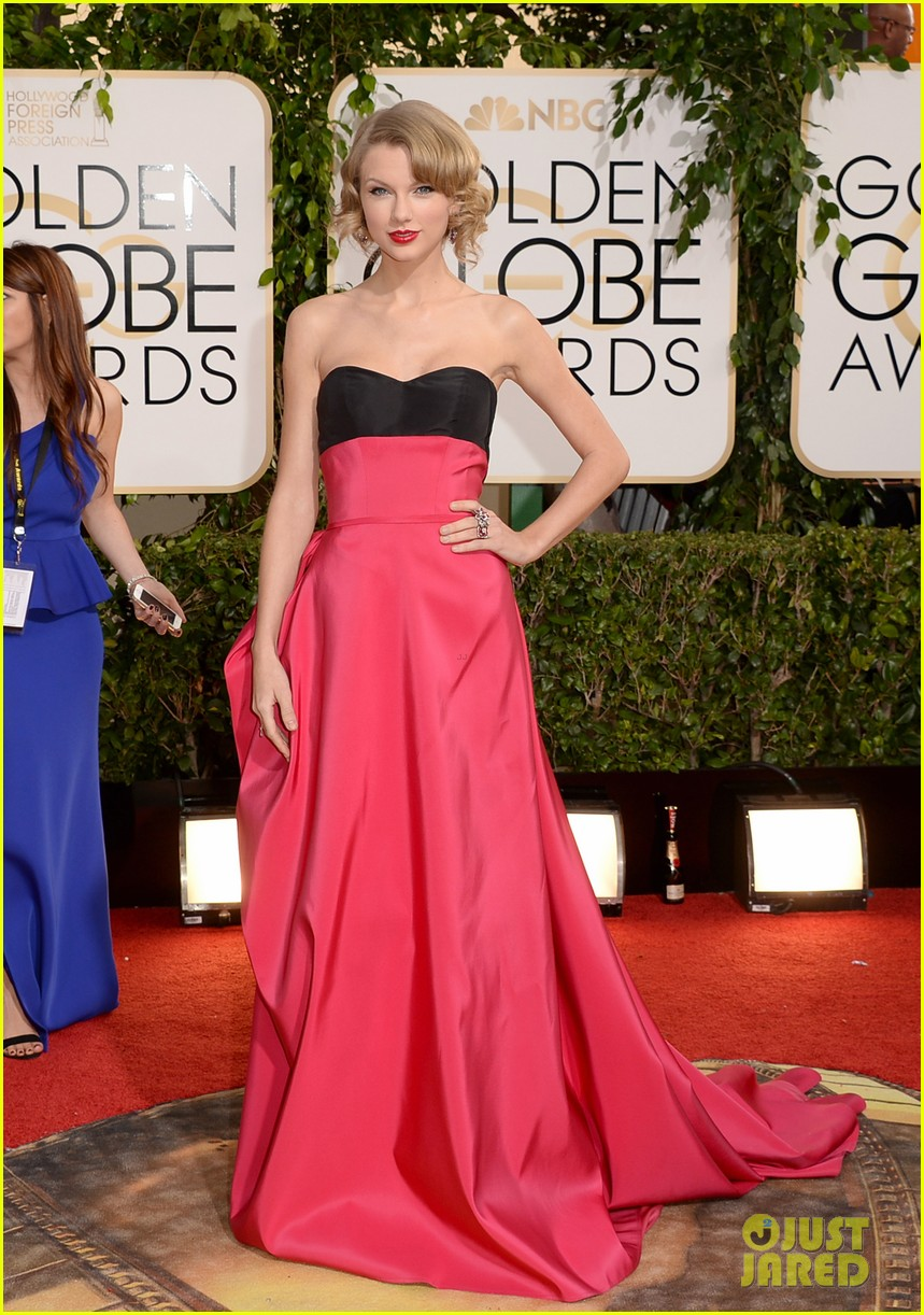taylor swift golden globes 2014 red carpet 03