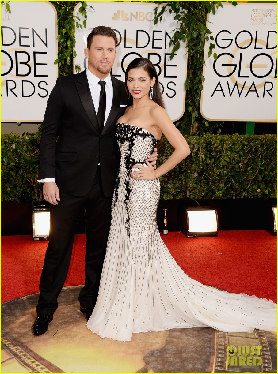 channing tatum jenna dewan golden globes 2014 red carpet 023029330