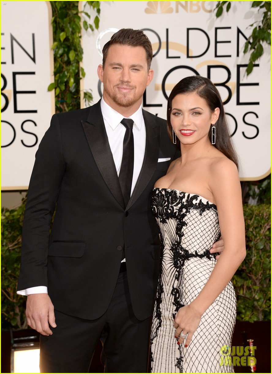 channing tatum jenna dewan golden globes 2014 red carpet 03