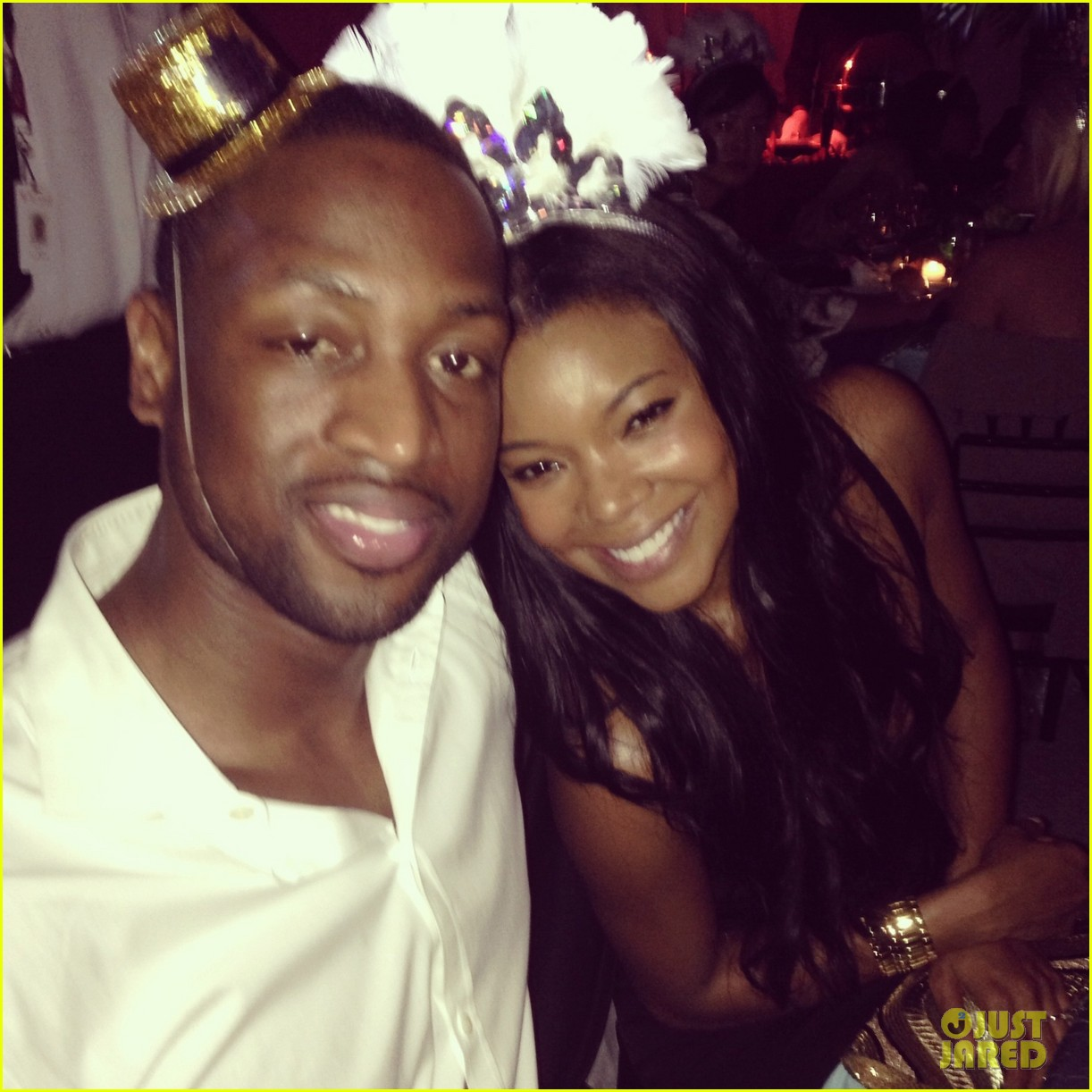 gabrielle union dwyane wade celebrate new years eve with chris adrienne bosh 02.
