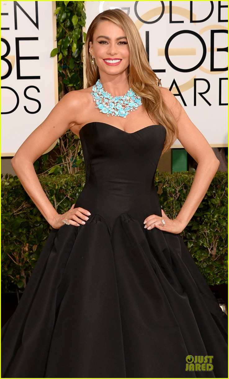 sofia vergara golden globes 2014 red carpet 053029299