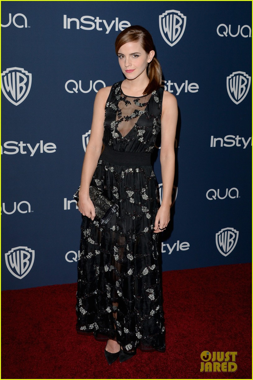 emma watson instyle golden globes party 2014 01