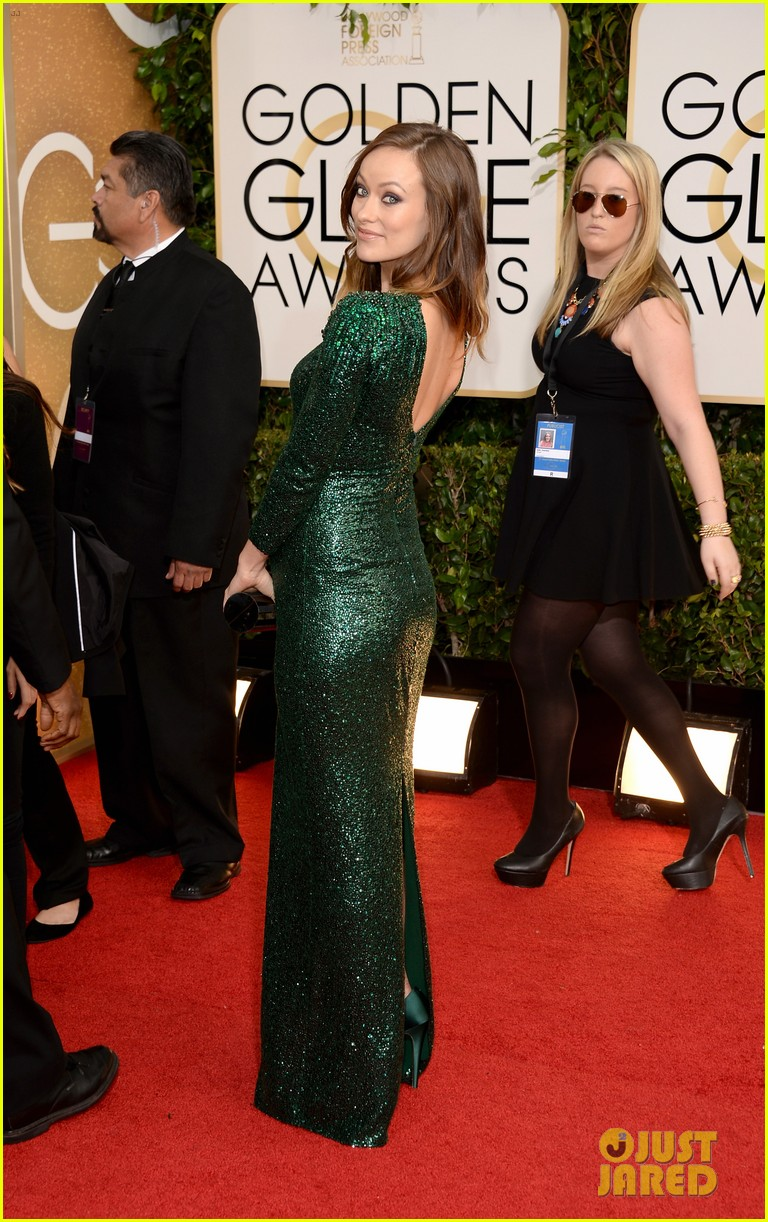 olivia wilde golden globes 2014 red carpet 08