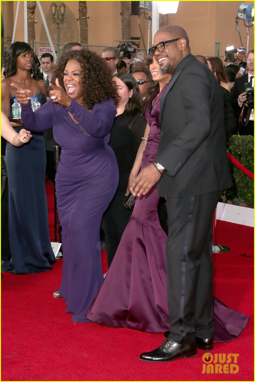 oprah winfrey forest whitaker sag awards 2014 red carpet 06