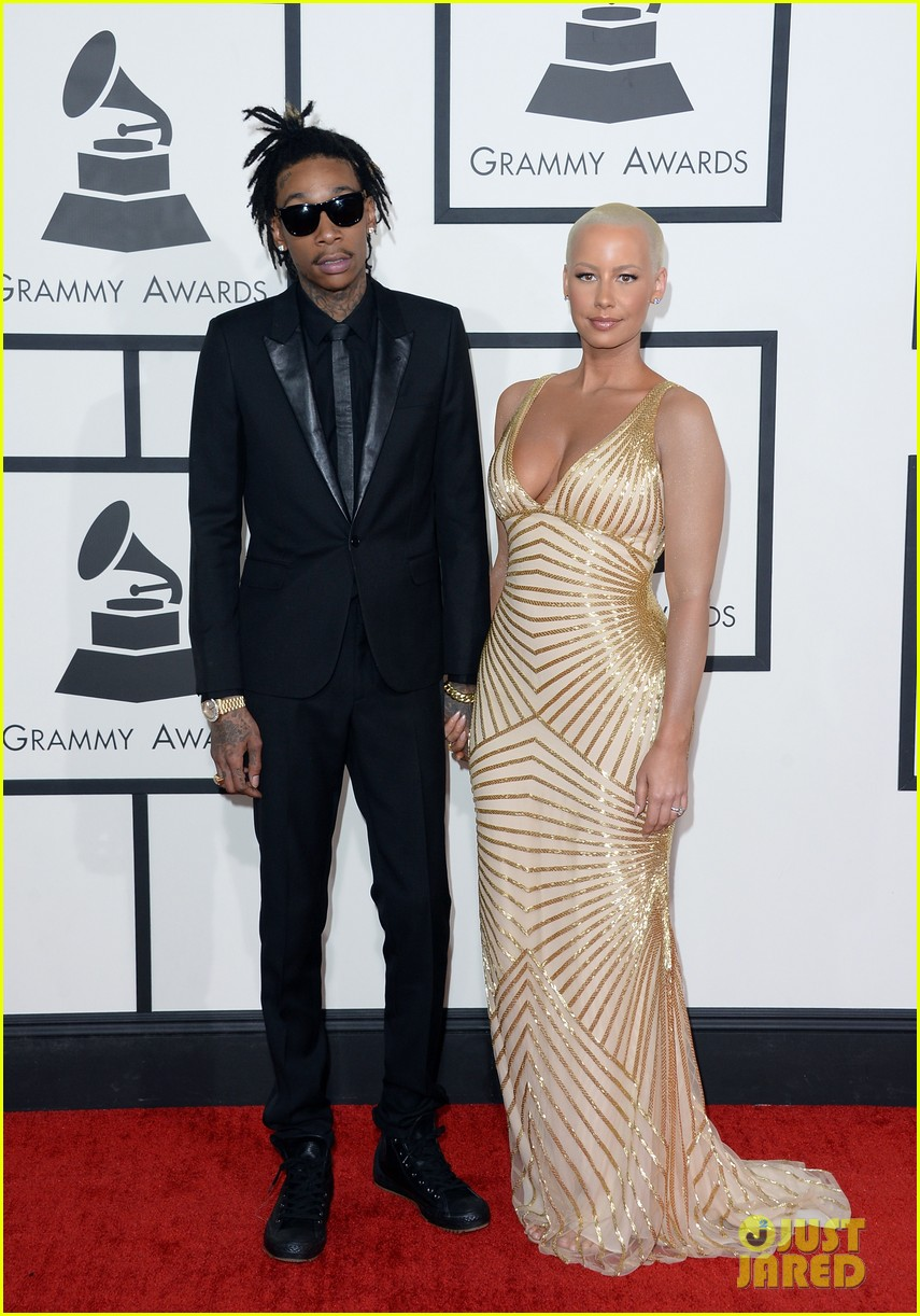 wiz khalifa amber rose grammys 2014 red carpet 013041065