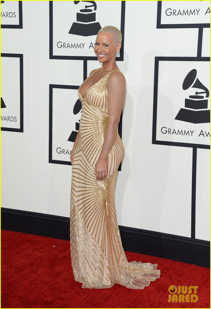wiz khalifa amber rose grammys 2014 red carpet 063041070