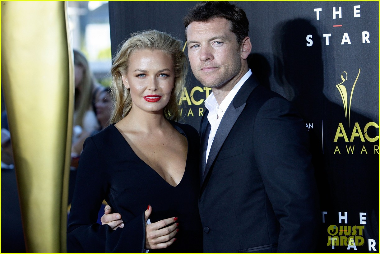 sam worthington lara bingle aacta awards ceremony 2014 013044046