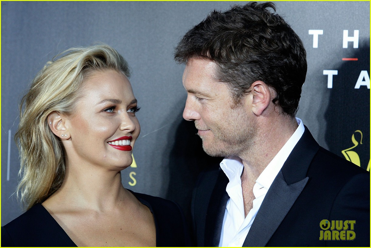 sam worthington lara bingle aacta awards ceremony 2014 103044055