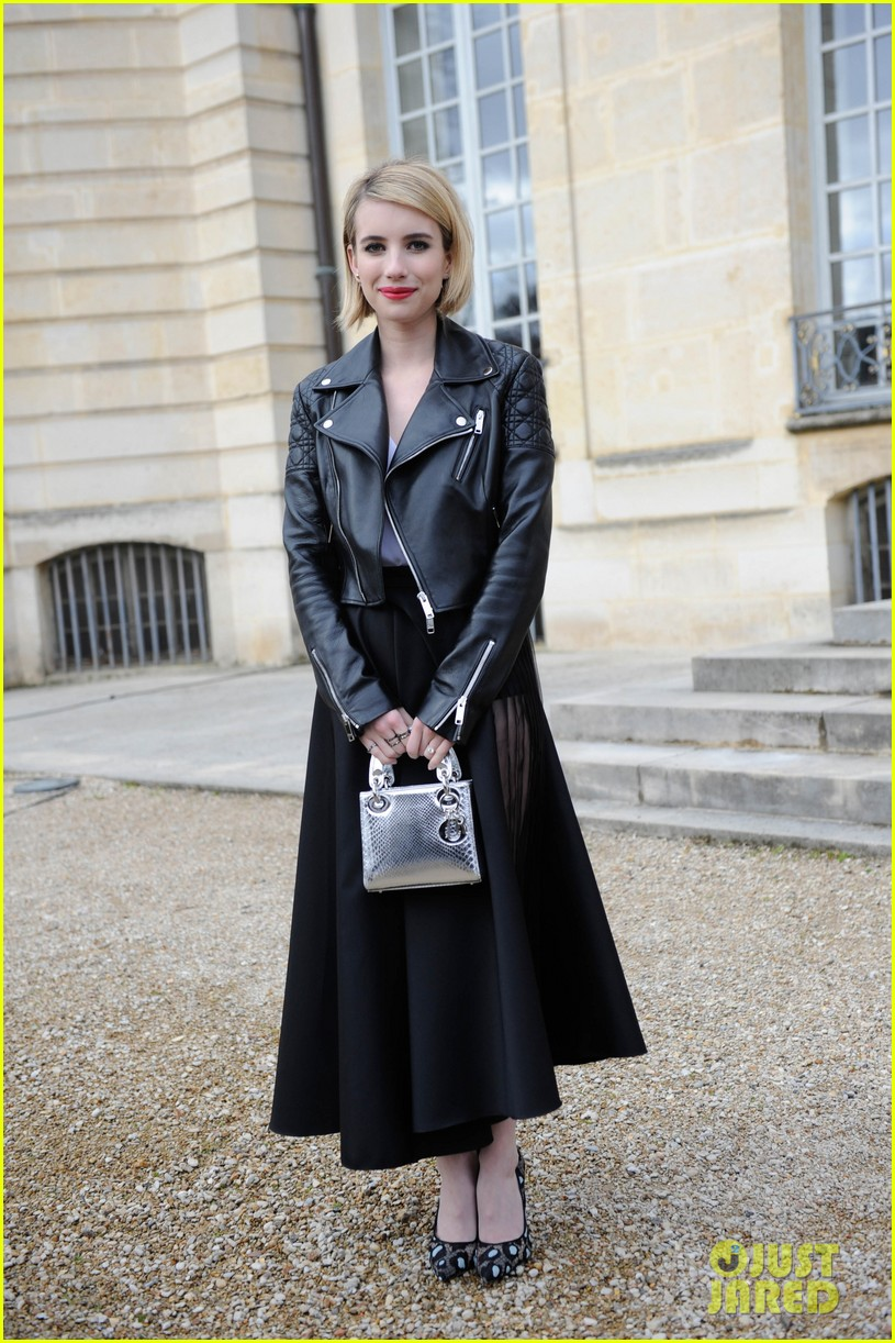 jessica alba emma roberts christian dior fashion show 10