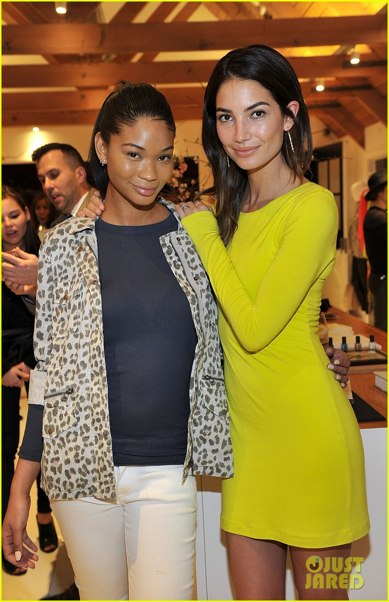 lily aldridge launches velvet line surrounded by celebrity pals 143052072