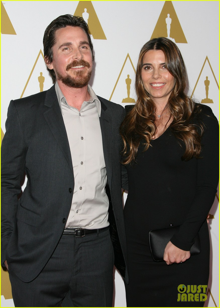 christian bale oscars nominees luncheon with wife sibi blazic 05