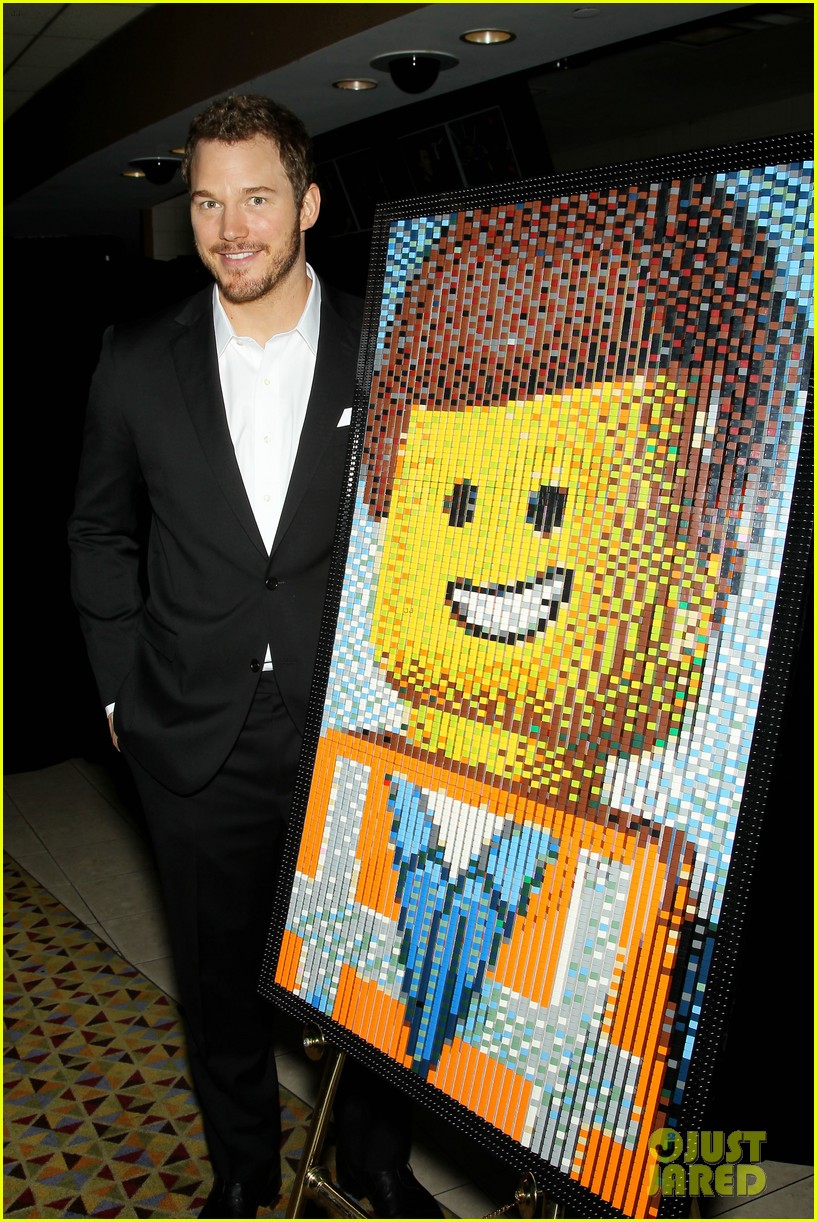 elizabeth banks chris pratt lego movie nyc screening 293048272