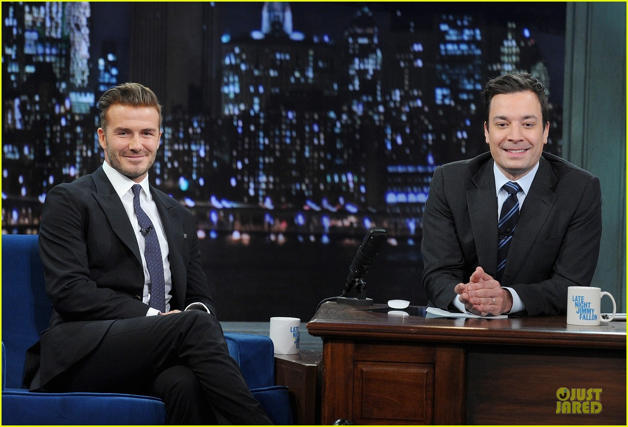david beckham rocks yolk for egg russian roulette on fallon 11