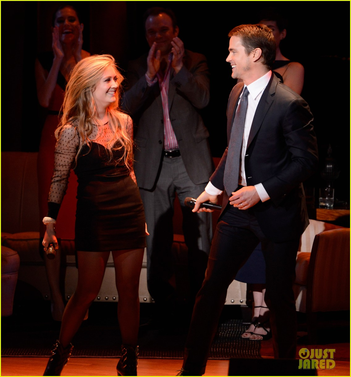 matt bomer duets with bryan lourds daughter billie on stage at american songbook gala 03