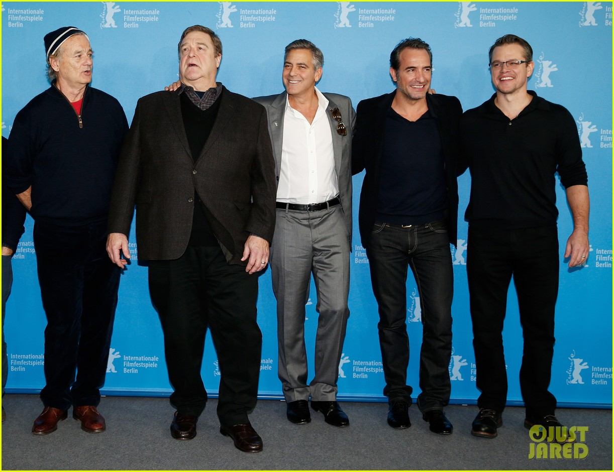 george clooney monuments men cast do the conga 01