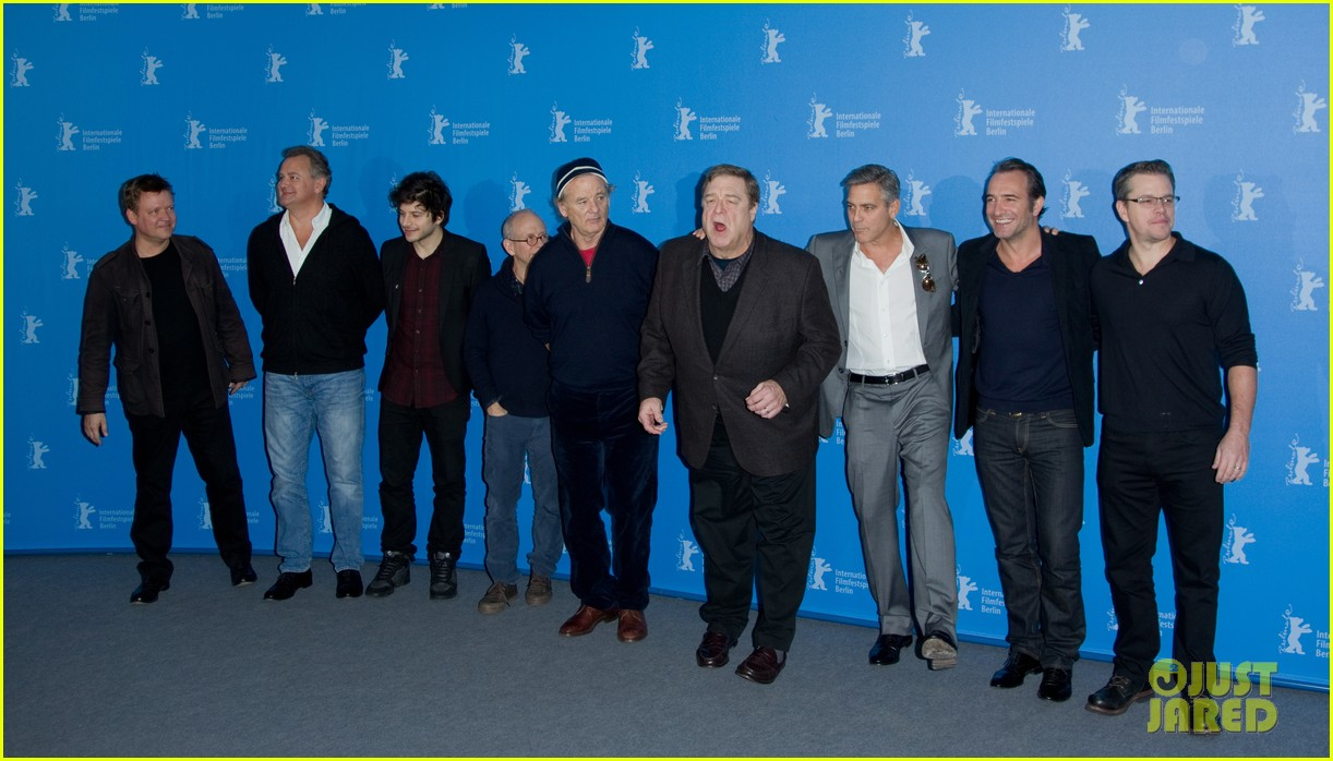george clooney monuments men cast do the conga 09