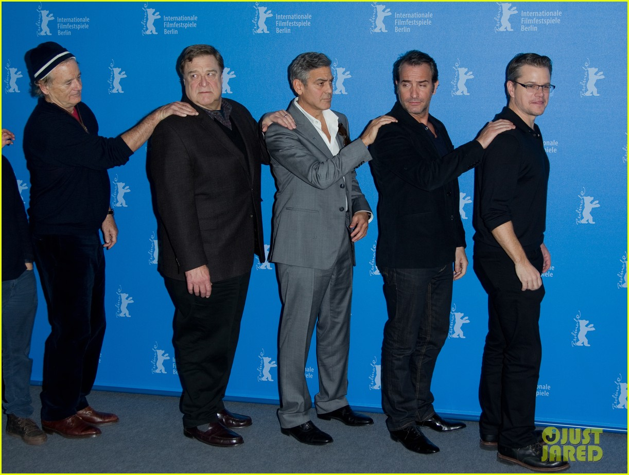 george clooney monuments men cast do the conga 14