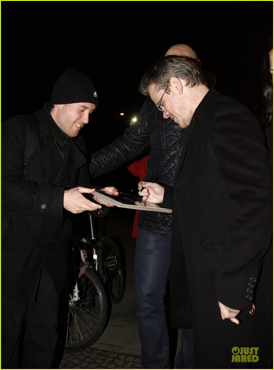 george clooney matt damon monuments men cast dinner before berlin film festival 10