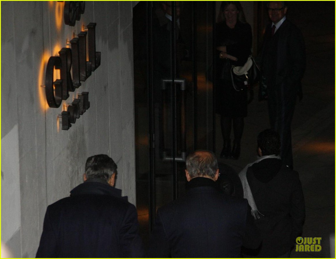 george clooney matt damon monuments men cast dinner before berlin film festival 123049392