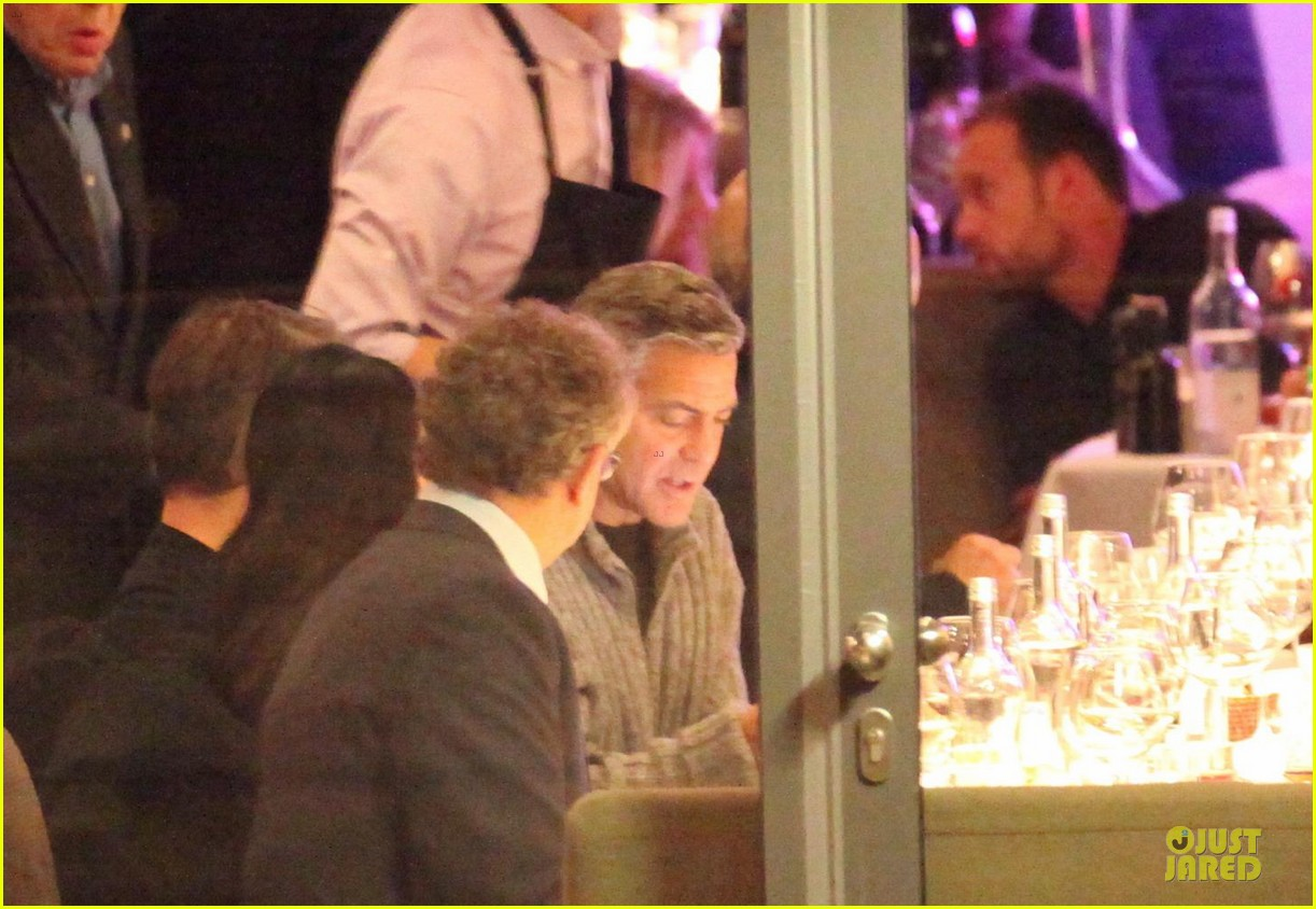 george clooney matt damon monuments men cast dinner before berlin film festival 20
