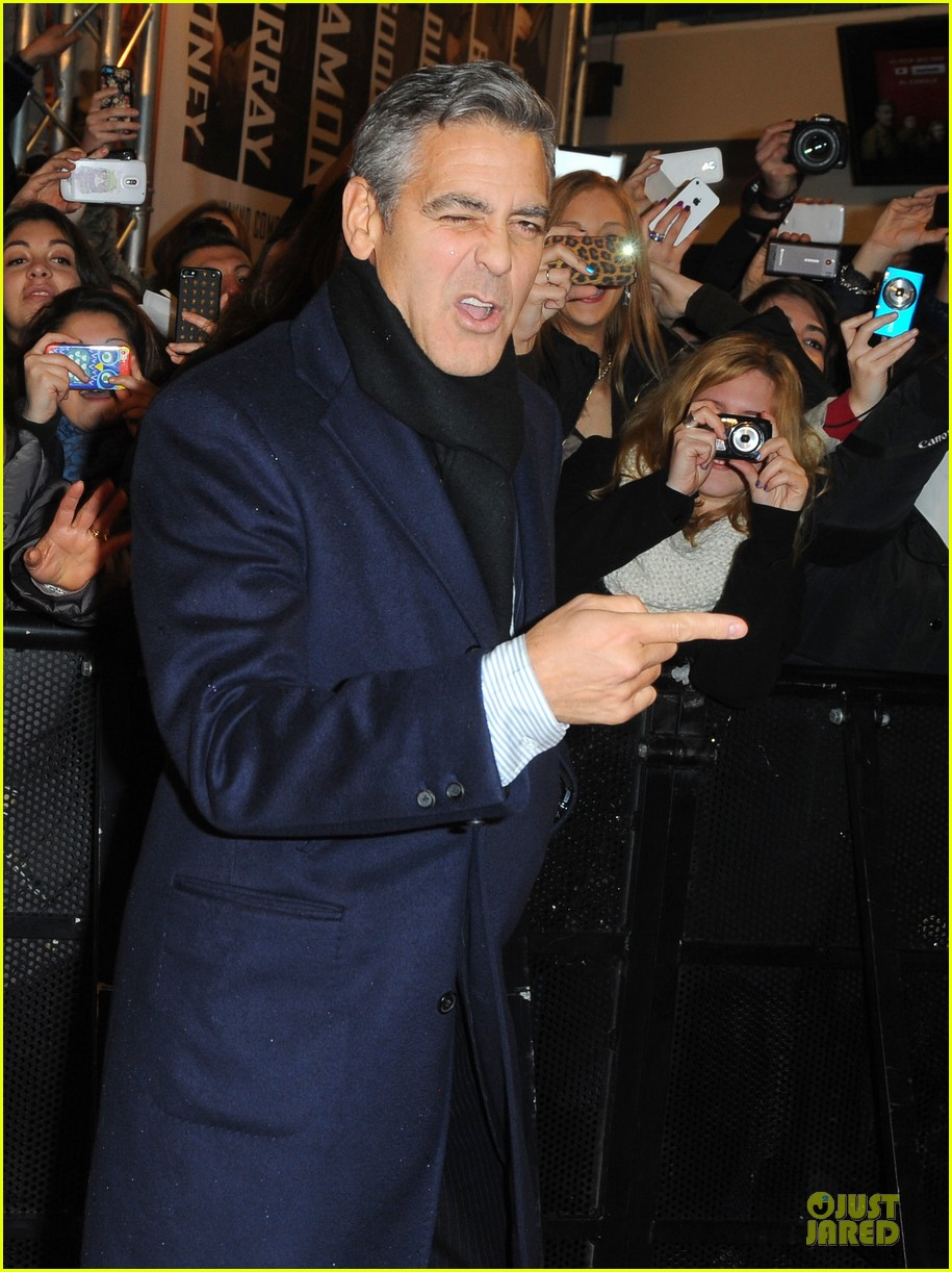 george clooney matt damon monuments men milan premiere 103050872