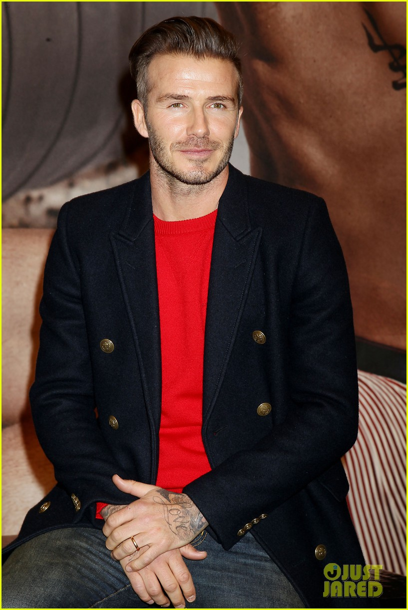 david beckham promotes hm body wear collection nyc 093045545